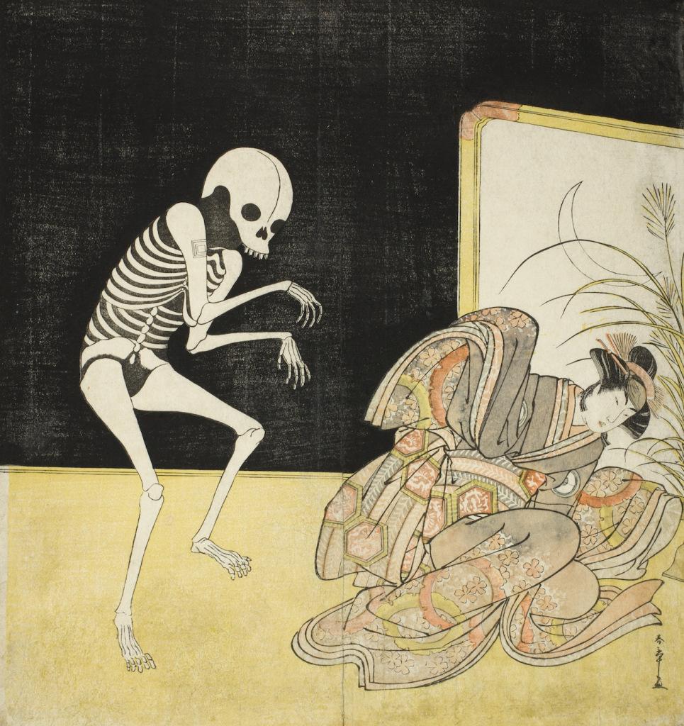 Shunsho_The-Actors-Ichikawa-Danjuro-as-Skeleton-Spirit-of-Renegade-Monk-Seigen-965x1024