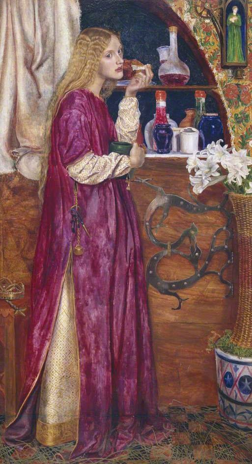 The Queen was in the Parlour, Eating Bread and Honey by Valentine Cameron Prinsep