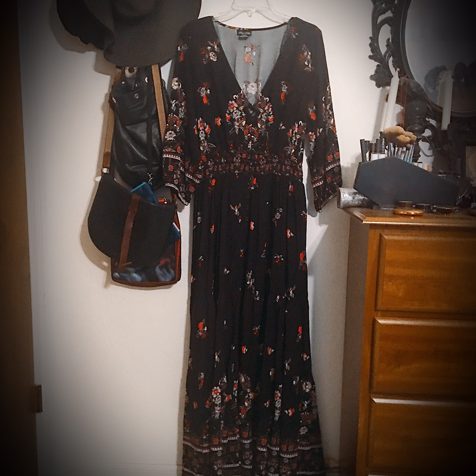 Moody floral maxi dress--make me an offer!