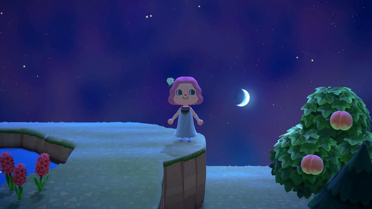 Moon gazing from the cliffs